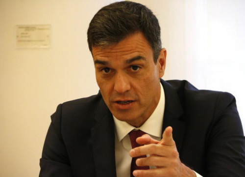 The Spanish president, Pedro Sánchez, during his meeting with Quim Torra on July 9, 2018 (by Rafa Garrido)