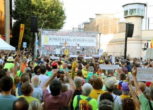Image of the march demanding freedom for jailed Catalan leaders in Barcelona on July 14, 2018 (by Júlia Pérez)