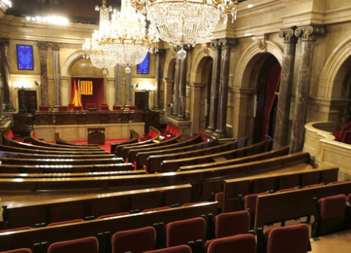 The empty Catalan parliament on July 18, 2018 (by Guillem Roset)
