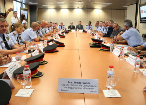 Security coordination meeting led by the Catalan president on August 21, 2018 (by Andrea Zamorano)