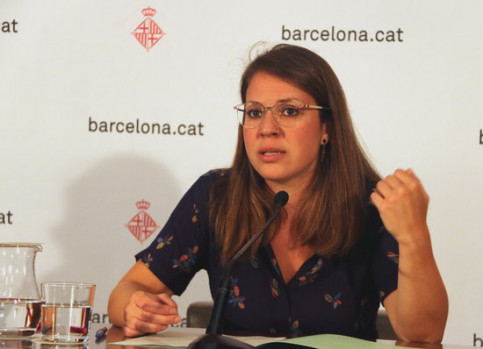 Barcelona local councillor for Urbanism, Janet Sanz, on August 21, 2018 (by Aina Martí)