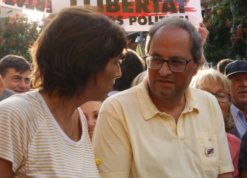 The Catalan president, Quim Torra, on September 2, 2018, in Terrassa (by Guillem Roset)