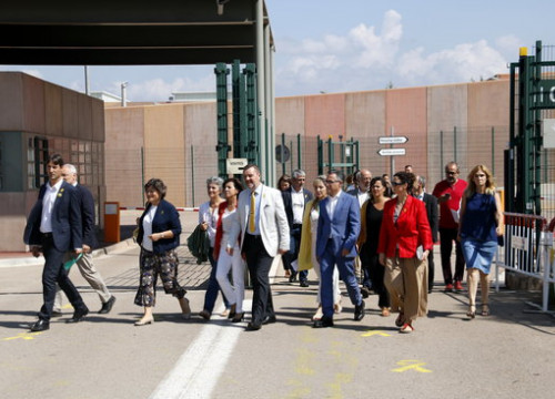 MEPS leaving Lledoners prison (by ACN)