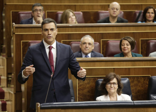 The Spanish president, Pedro Sánchez, in the Spanish Congress on September 12, 2018 (by Spanish Congress)