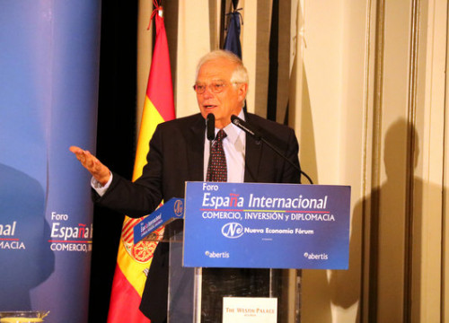 The Spanish foreign minister, Josep Borrell, in Madrid in September 2018 (by Roger Pi de Cabanyes)