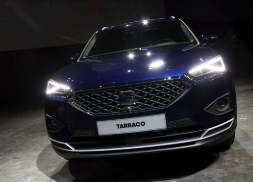Front view of a SEAT Tarraco large SUV, the latest release from the Catalan carmaker. (Photo: Roger Segura)