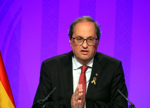 The President of Catalonia, Quim Torra (by Jordi Bataller)