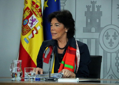 Spanish government spokesperson Isabel Celaá (by Tania Tapia)