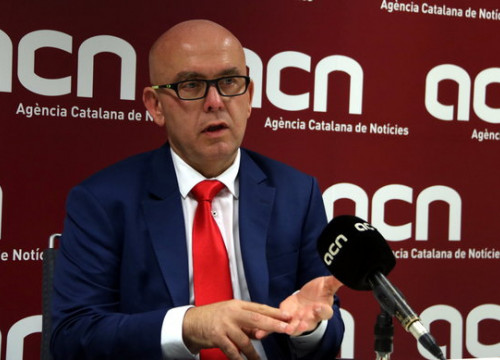 Lawyer Gonzalo Boye during an interview at ACN's newsroom (by Pol Solà)