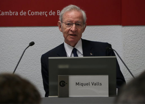 The president of Barcelona's Chamber of Commerce, Miquel Valls (by Andrea Zamorano)