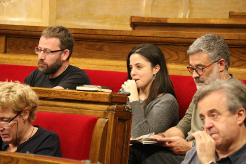 CUP MPs sitting in the Catalan parliament (by ACN)