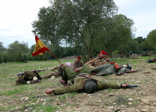 Historical reenactment of the Battle of the Ebre in Fatarella, southern Catalonia (by ACN)