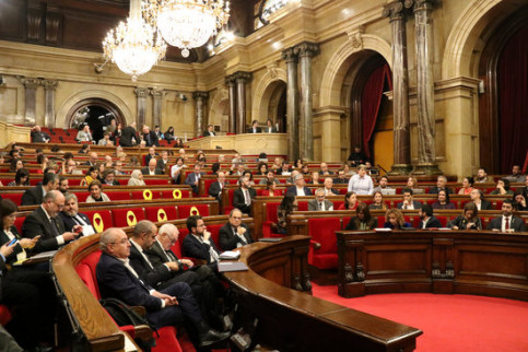 Image of a Catalan parliament plenary session in November 2018 (by Guillem Roset)