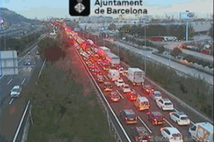 Congestion in Barcelona's Ronda Litoral on November 23, 2018 (by Barcelona town hall)