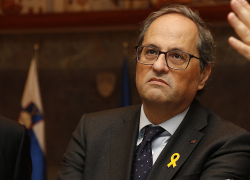 The Catalan president, Quim Torra, during his visit to Slovenia (by Blanca Blay)