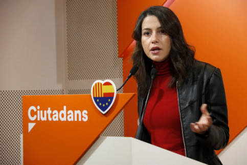 The leader of opposition and Ciutadans leader in Catalonia, Inés Arrimadas, on December 9, 2018 (by Guillem Roset)