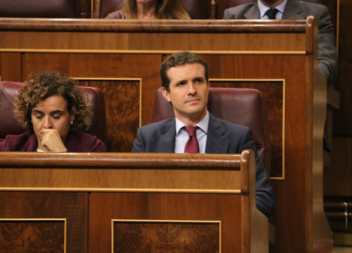 People's Party leader Pablo Casado in the Spanish congress (by Bernat Vilaró)