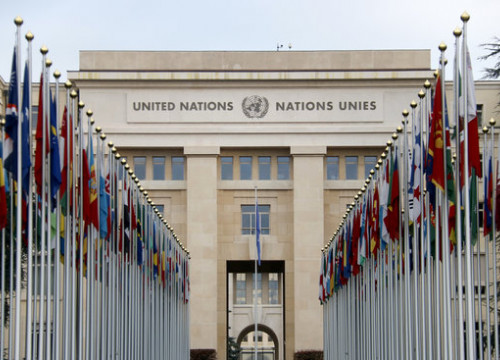 Facade of the United Nations building in Geneva, Switzerland. (Photo: Jordi Pujolar)