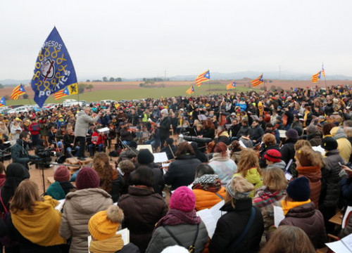 Image of the concert to support the jailed Catalan leaders on December 29, 2018, outside Lledoners prison (by Gemma Sánchez)