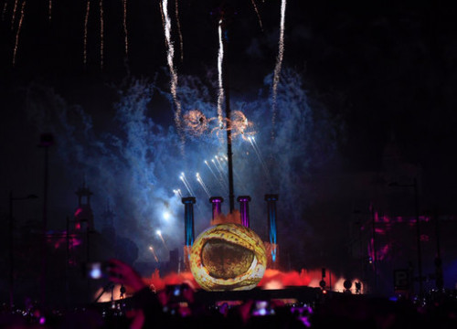 Barcelona's official New Year's Eve show in 2019 (by Ajuntament de Barcelona)