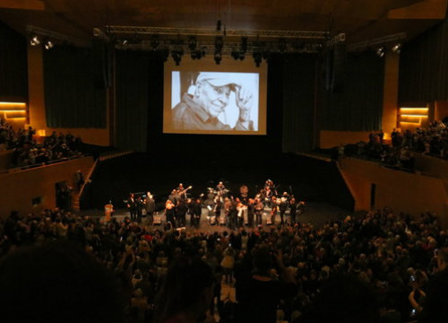 Image of the tribute held in Barcelona's Auditori to Moncho on January 14, 2019 (by Mar Vila)