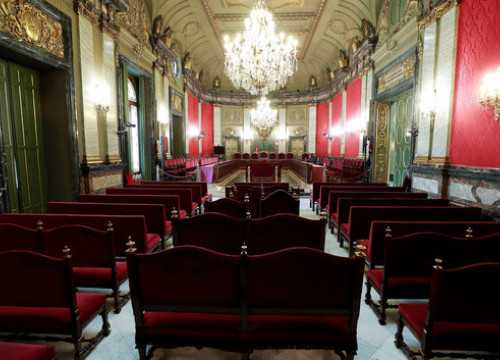 Spain's Supreme Court, where the Catalan independence trials are taking place