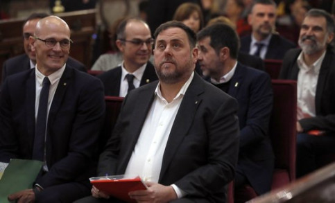 Former Catalan vice president Oriol Junqueras in Spain's Supreme Court (by EFE)
