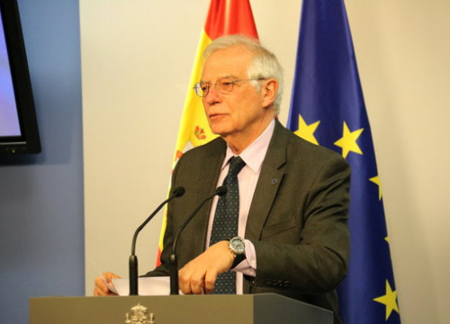 Spain's foreign affairs minister Josep Borrell (by Blanca Blay)