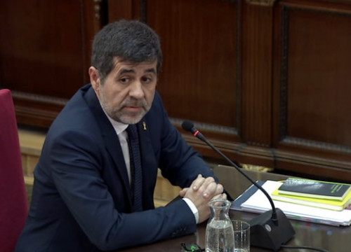 Jordi Sànchez in the Spanish Supreme Court during the Catalan Trial