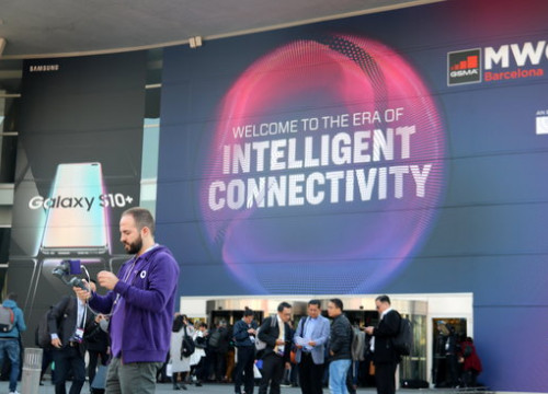 Image of the Mobile World Congress main entrance on February 25, 2019 (by Laura Pous)