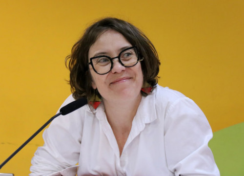The former MP Eulàlia Reguant in a press conference on March 26, 2019 (by Carola López)