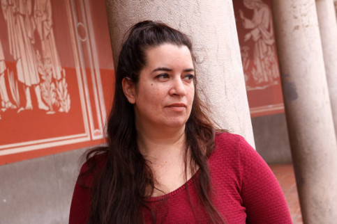 Pro-independence activist Tamara Carrasco in April 2019 (by ACN)