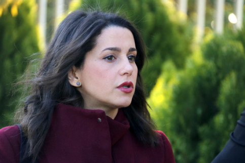 The leader of Ciutadans in Catalonia, Inés Arrimadas, on the first day of campaign (by Jordi Pujolar)