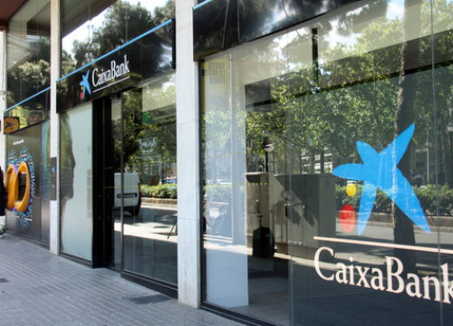 Caixabank offices. (Photo: Alèxia Vila)
