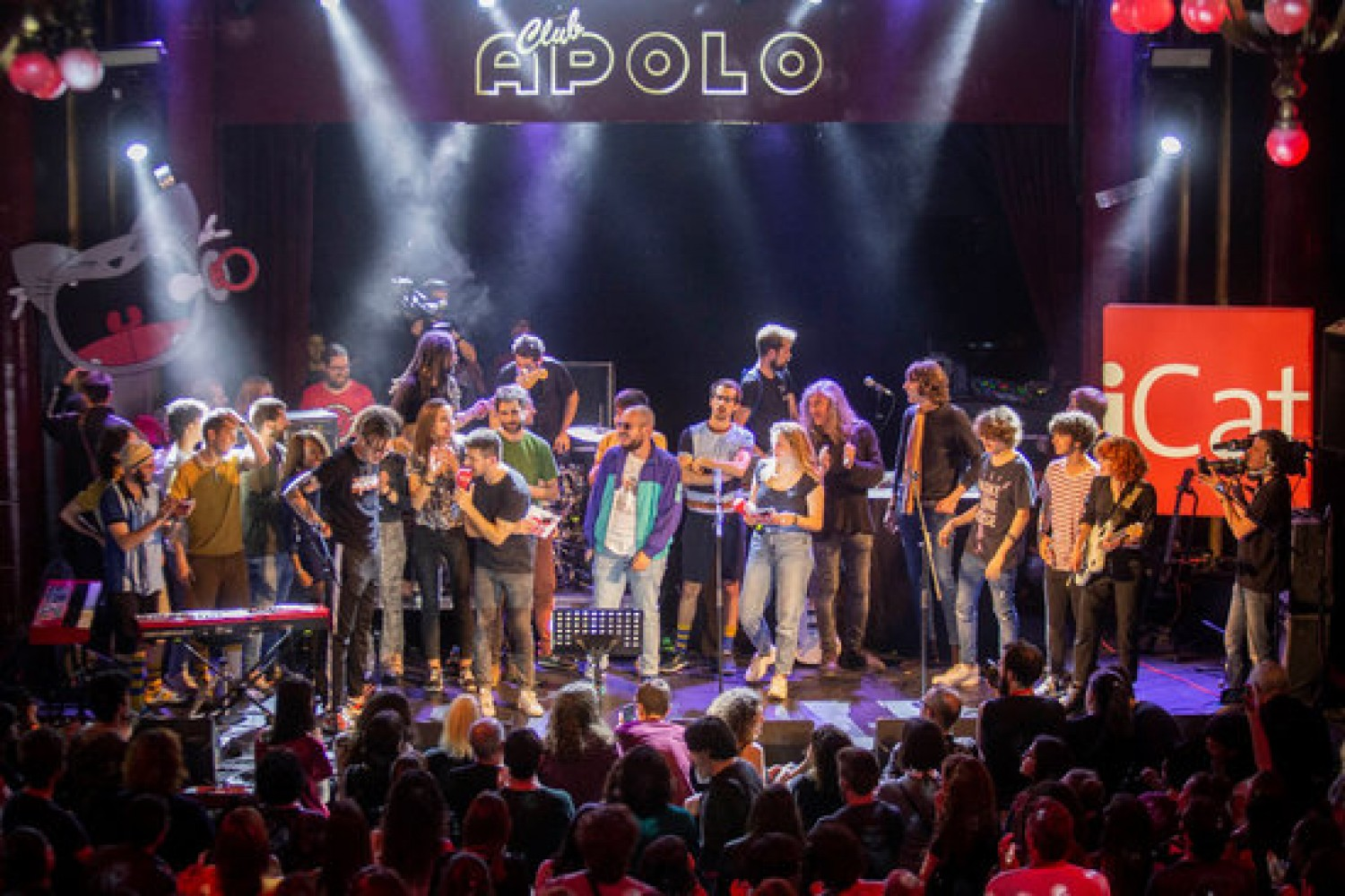 Artists who performed at iCat FM's 'El Desconcert' at the Sala Apolo in Barcelona, May 7, 2019 (CCMA)