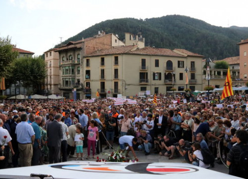 Image of a demonstration in Ripoll to reject the attacks, on August 26, 2017 (by Gerard Vilà)