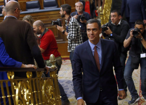 Spain's acting president Pedro Sánchez (by Javier Barbancho)