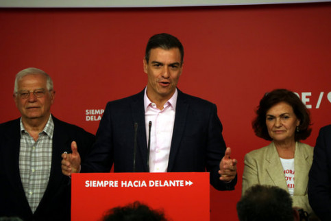 The Spanish president, Pedro Sánchez, on May 26, 2019 (by Roger Pi de Cabanyes)