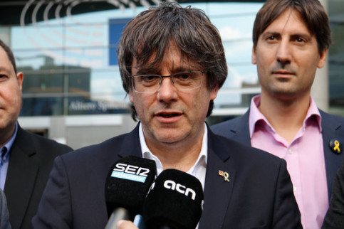 The Catalan former president, Carles Puigdemont, in Brussels on May 29, 2019 (by Natàlia Segura)