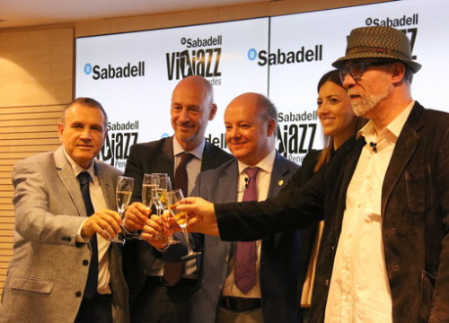 Organizers of the Banc Sabadell Vijazz festival. (Photo: Pere Francesch)