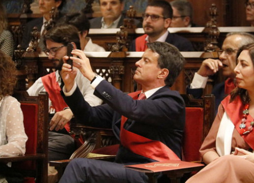 Manuel Valls, on the inauguration day in Barcelona city council on June 15, 2019 (by Gerard Artigas)