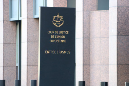 Front of the Court of Justice of the European Union in Luxembourg. (Photo: Natàlia Segura)