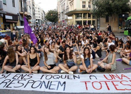 The recent case of gang rape in Manresa has sparked demonstrations (Laura Busquets)