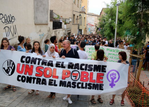 Demonstration in El Masnou (by Àlex Recolons)