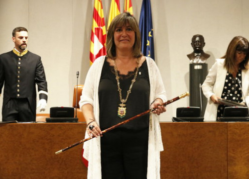 Nuria Marín, mayor of L'Hospitalet de Llobregat and president of the Regional Authority of Barcelona (by Gerard Artigas)