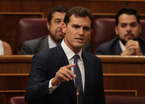 Ciutadans leader Albert Rivera in the Spanish congress (by Juan Carlos Rojas-ACN)