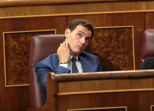 The leader of Ciutadans in Spain, Albert Rivera, in Congress on July 25, 2019 (by Juan Carlos Rojas)