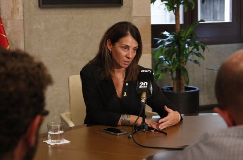 Government spokesperson Meritxell Budó in an interview with the Catalan News Agency. (Photo: Gerard Artigas)