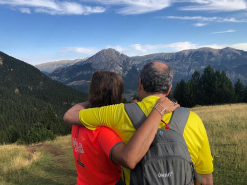 President of the Catalan Government Quim Torra with his wife in the Pyrenees (ACN)
