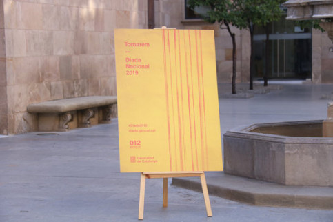 Poster of the institutional events marking the 2019 Catalan National Day (by Mariona Puig)
